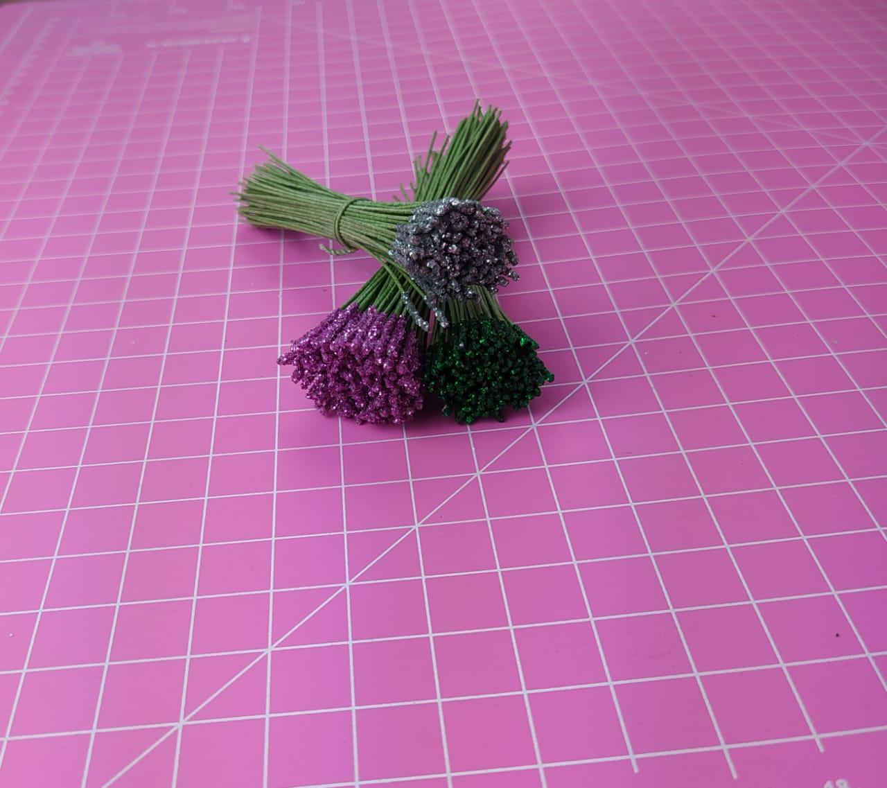 Pistilo chuva de glitter cabo verde musgo c/ 100 unidades