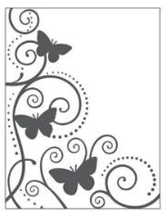 Placa para Relevo 2D Elegance - 107x139mm - Borboleta e Videira - Toke e Crie