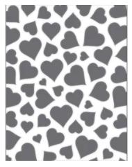 Placa para Relevo 2D Elegance - 107x139mm - Coração - Toke e Crie