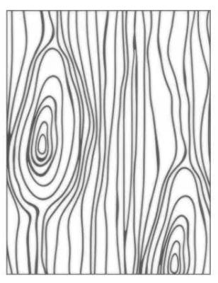 Placa para Relevo 2D Elegance - 107x139mm - Nó de Madeira - Toke e Crie