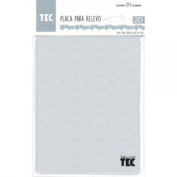 Placa para Relevo 2D Elegance - 127x177mm - Colméia - Toke e Crie