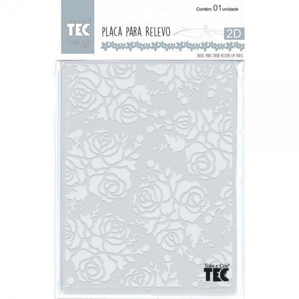 Placa para Relevo 2D Elegance - 127x177mm - Rosa - Toke e Crie