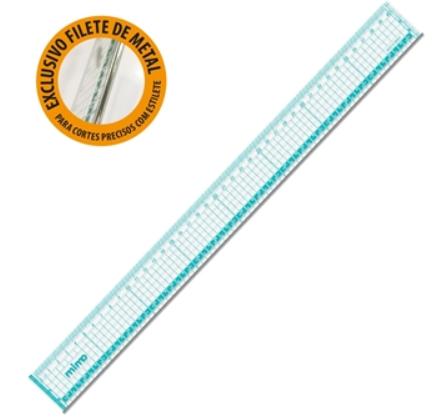Regua Profissional para Corte Mimo - 40cm x 4cm