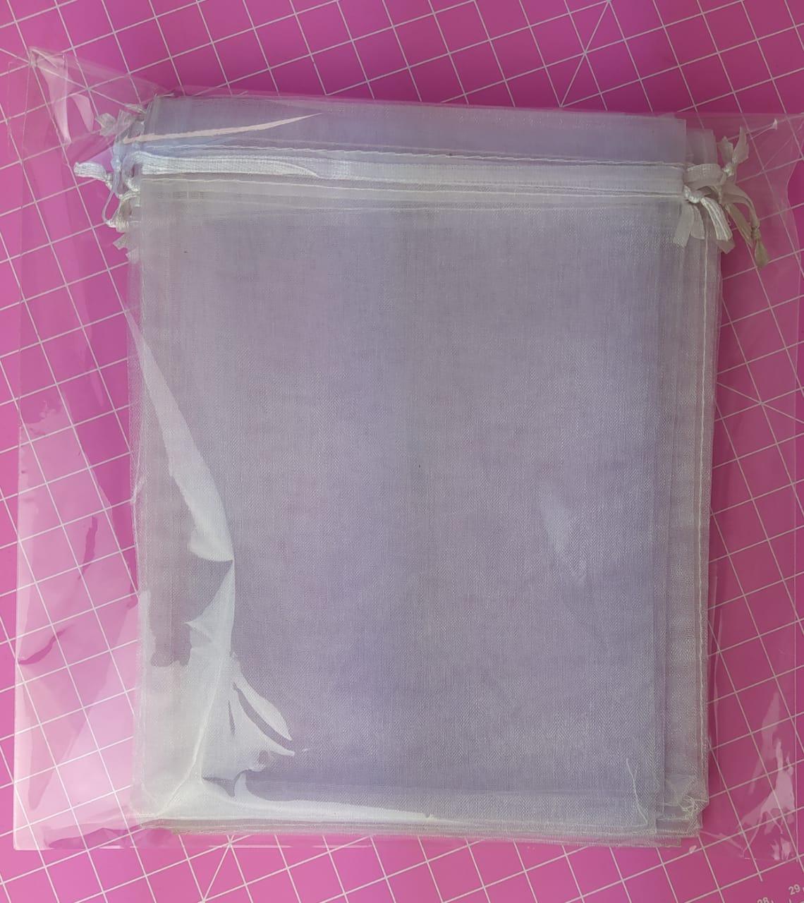 Saco de Organza 20x30cm c/ 10 unidades