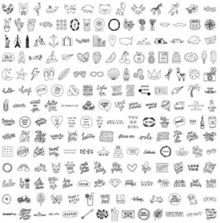USB Drive 200 Imagens para Foil Quill We R - Objetos e Palavras