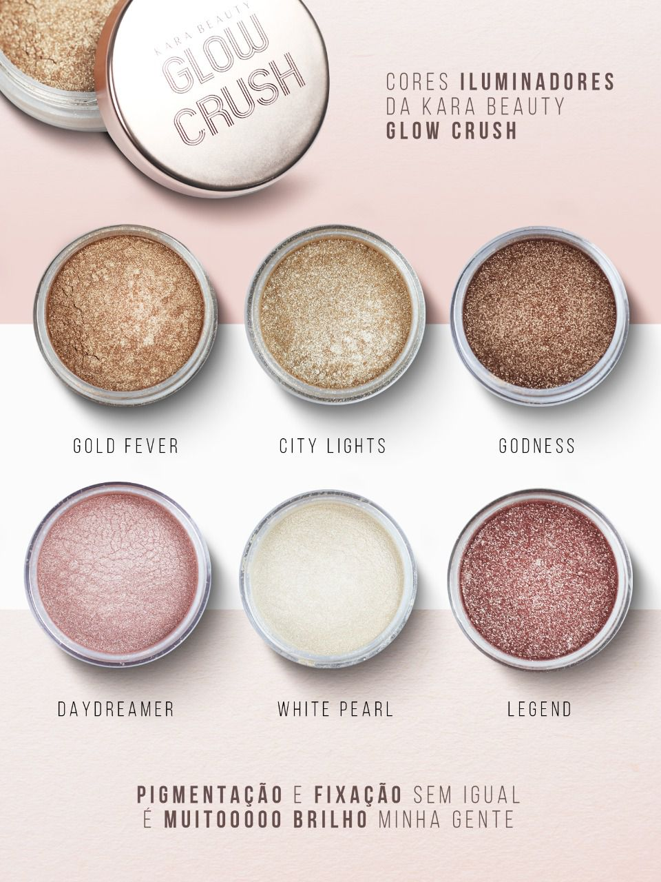 Iluminador Glow Crush   Kara Beauty