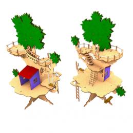 Casa na Árvore - Quebra Cabeça 3D