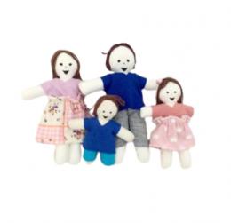 Família de Pano Articulada com 4 Integrantes