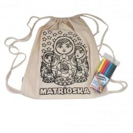 Kit Mochila Matrioska para Colorir
