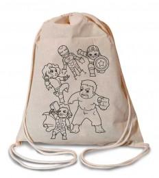 Kit Mochila Mini Heróis para colorir