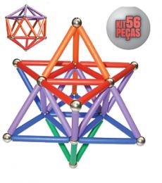 MagStix - Kit Colorido 56 peças