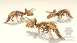 Quebra-Cabeça 3D - Triceratops