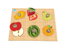 Quebra-Cabeça com Pinos Gigantes Frutas