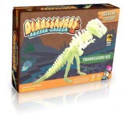 Quebra-Cabeça 3D Tiranossauro Rex - brilha no escuro
