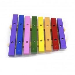 Xilofone Infantil 8 Teclas Madeira Colorido