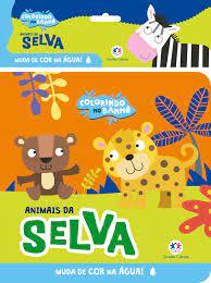 Animais da Selva - Colorindo no Banho