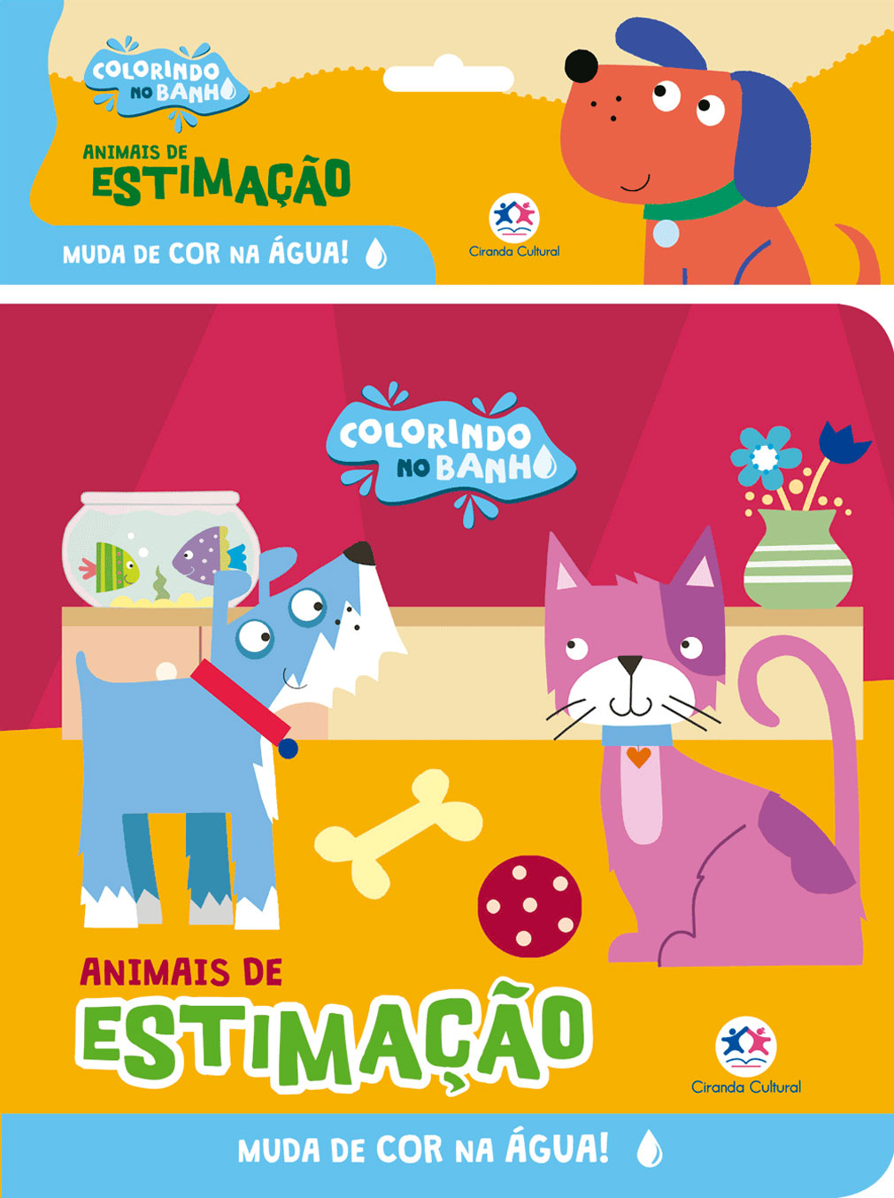 Animais de Estimação - Colorindo no banho