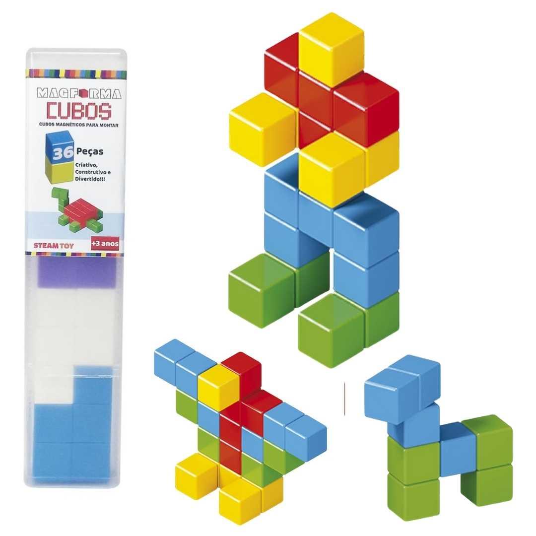 Cubos Magnéticos 36 Peças