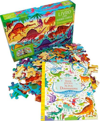 Dinossauros - Livro com Quebra-cabeça