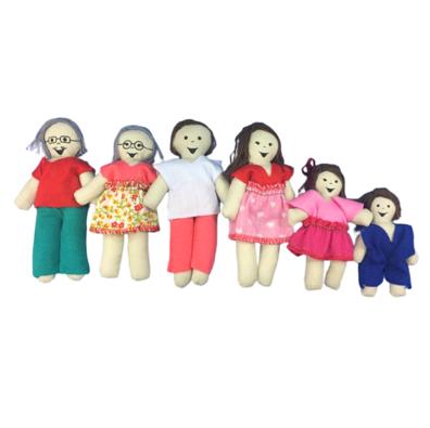 Família de Pano Articulada com 6 Integrantes