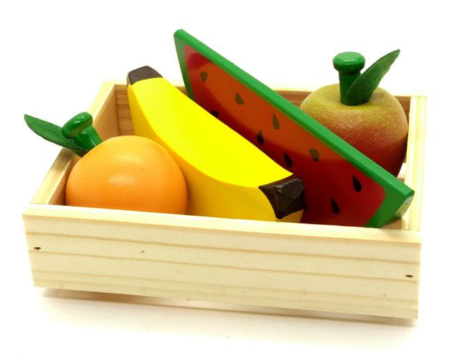 Kit de Frutas com caixote