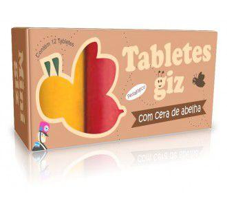 Giz de Cera em Tablete - 12 Cores
