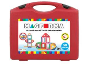 Jogo Magnético Maleta 30 peças vazadas