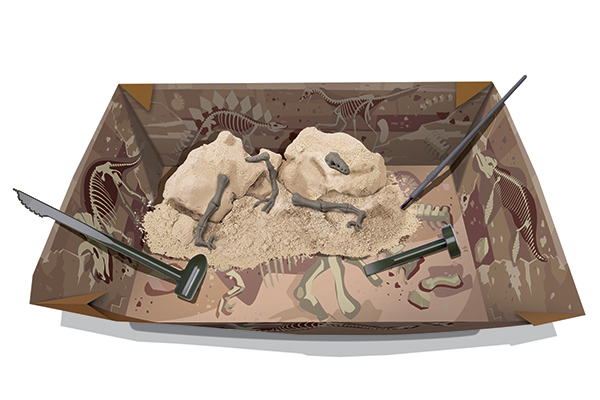 Kit de Escavação de Esqueleto - Velociraptor