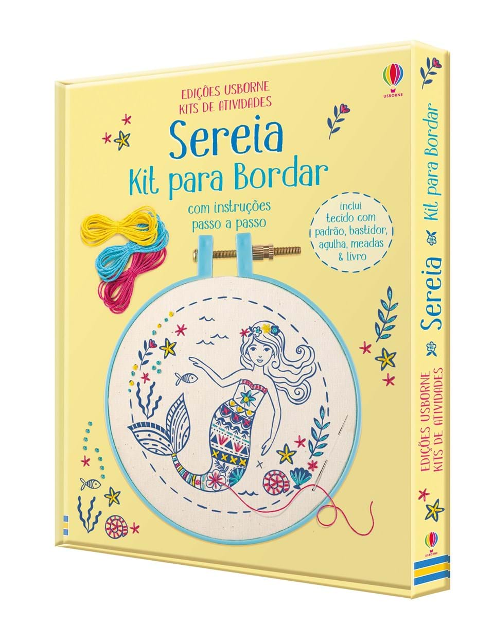 Kit para Bordar: Sereia