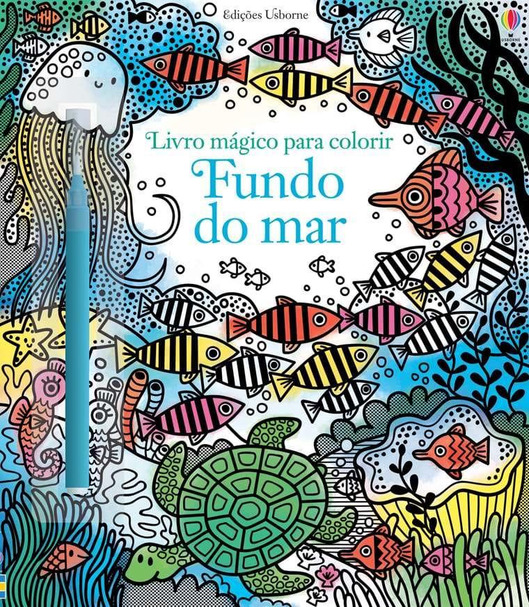 Livro Mágico para Colorir - Fundo do Mar