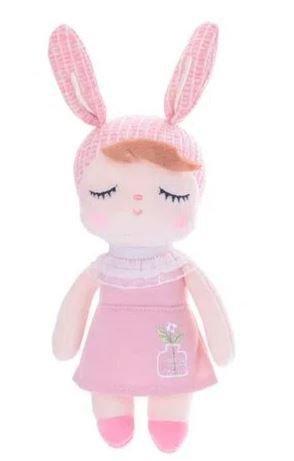 Mini Doll Metoo Angela Jardineira Rosa