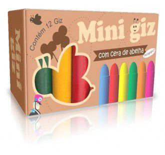Mini Giz de Cera Grosso com 12 Cores