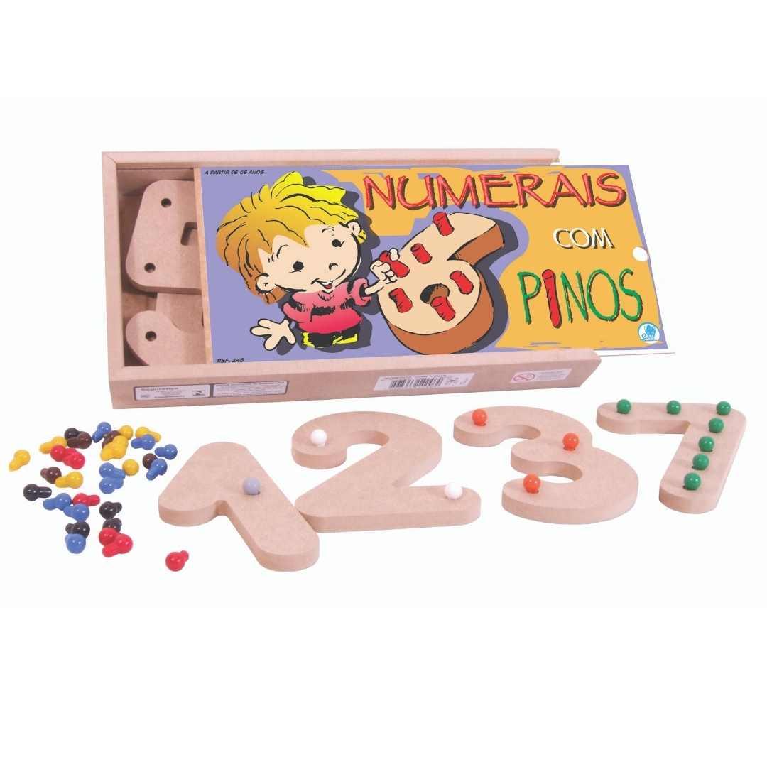 Numerais com Pinos