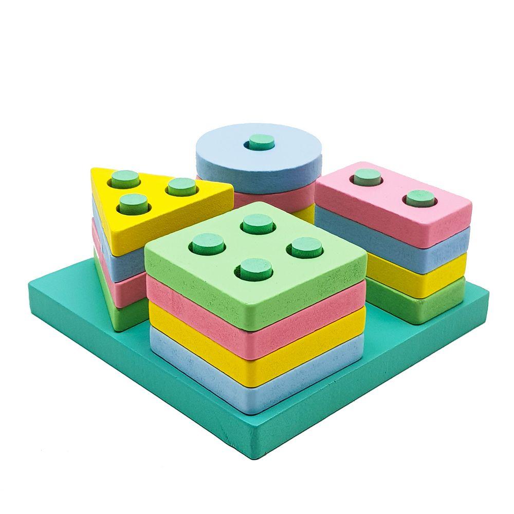 Pequeno Encaixe Divertido Formas e Cores Quadrado