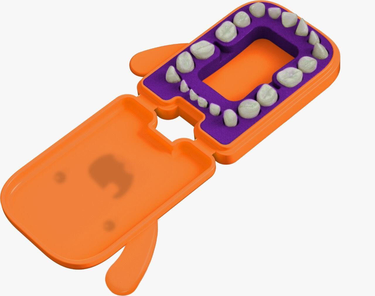 Porta Dente de Leite - Laranja