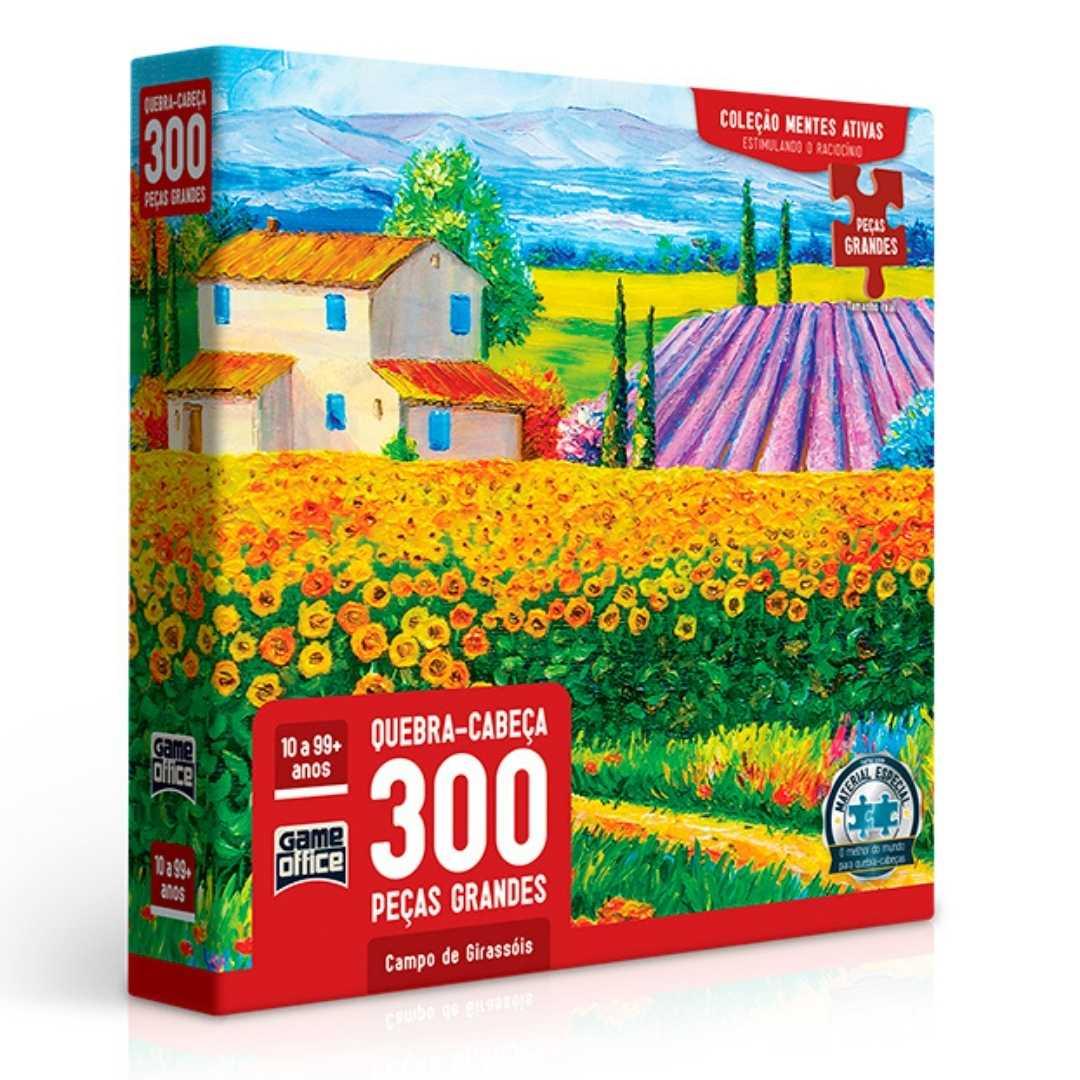 Quebra-Cabeça 300 peças - Campo de Girassóis
