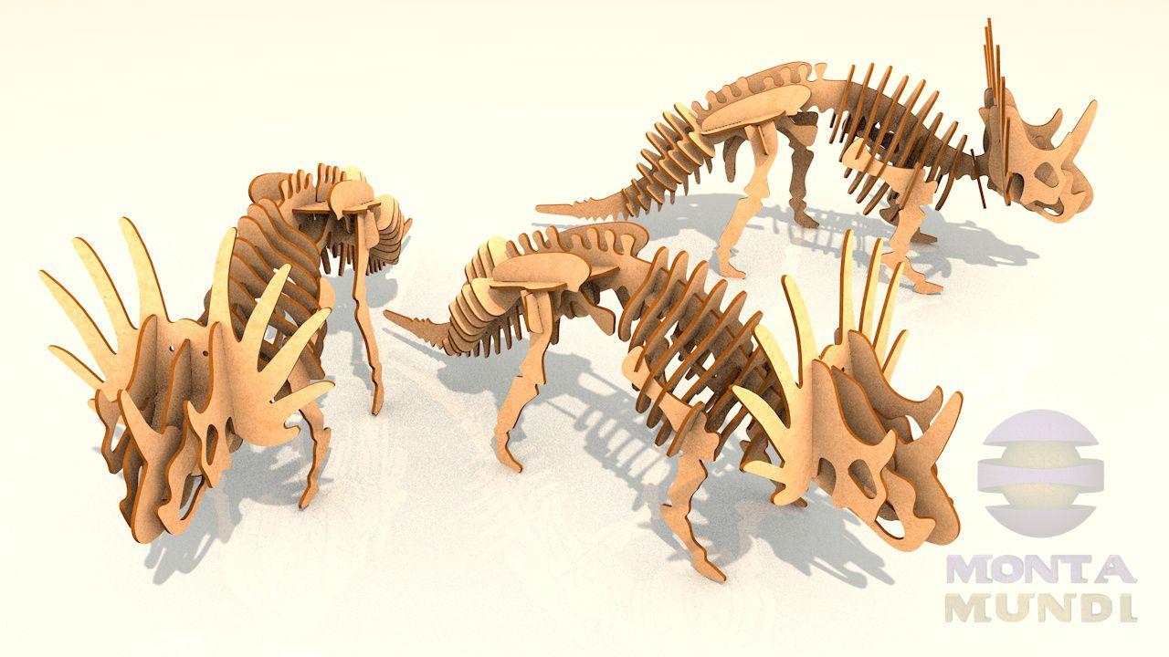 Quebra-Cabeça 3D - Estiracossauro
