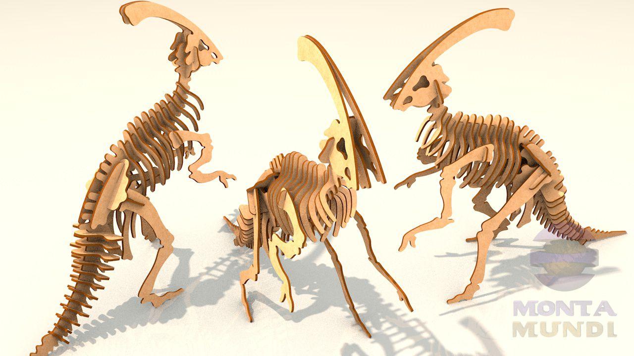 Quebra-Cabeça 3D - Parassaurolofo