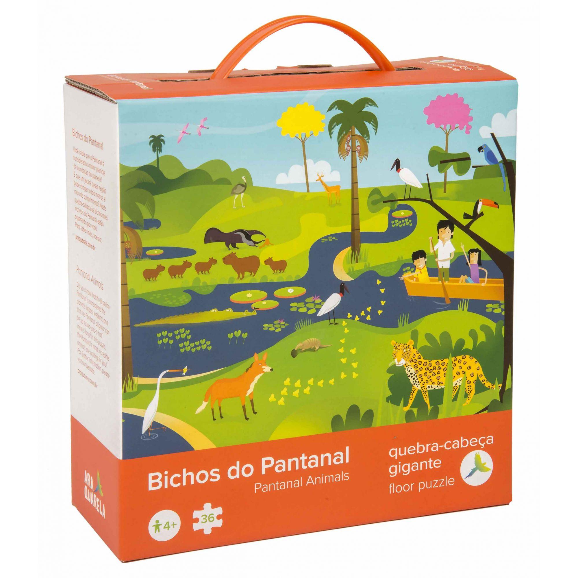 Quebra-Cabeça Gigante Bichos do Pantanal