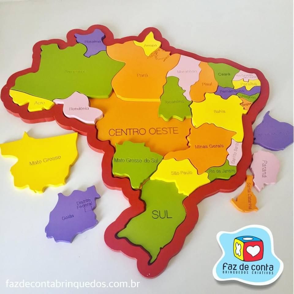 Quebra-Cabeça Brasil Regiões