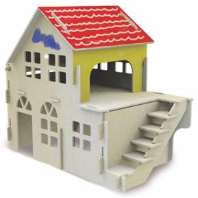 Quebra-Cabeça Casinha para Pintura 3D