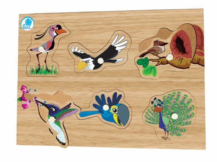 Quebra-Cabeça com Pinos - Aves