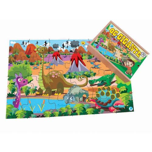 Quebra-Cabeça Gigante Dinossauros 12 peças