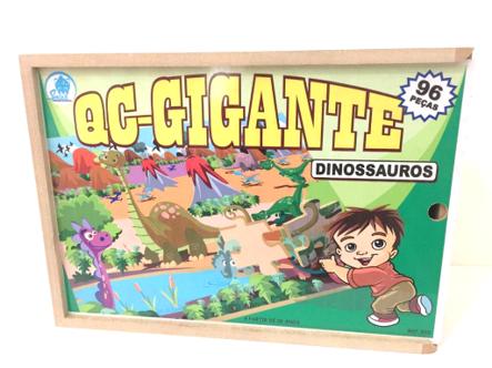 Quebra-Cabeça Gigante Dinossauros-96 pcs
