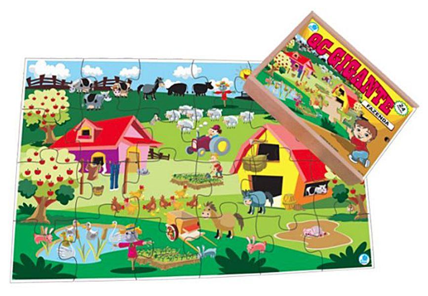 Quebra-Cabeça Gigante Fazenda - 12 pc