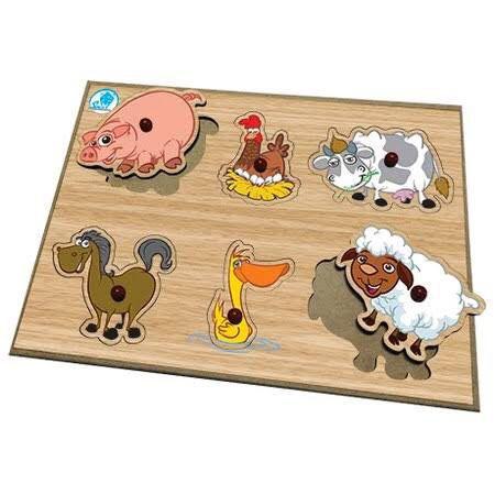 Quebra-Cabeça Pinos - Animais da Fazenda
