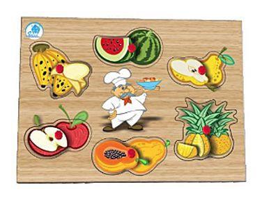 Quebra-Cabeça Pinos - Salada de Frutas