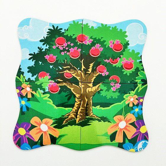Quebra-Cabeça Superposto Árvore