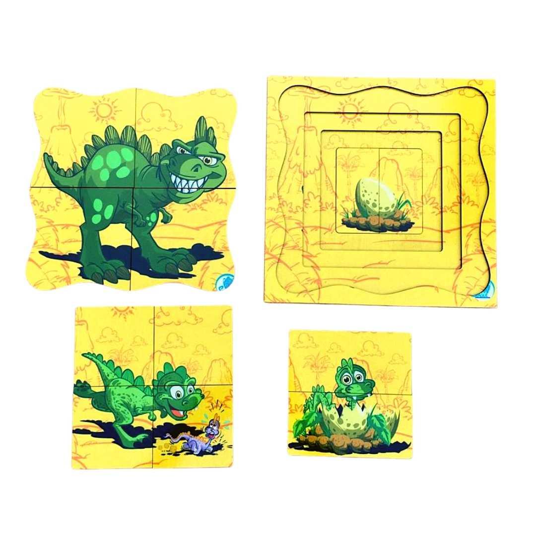 Quebra-Cabeça Superposto - Dinossauro