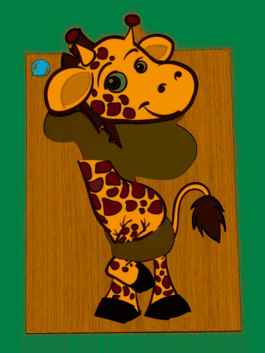 Super Quebra-Cabeça Girafa